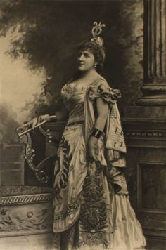 Mrs Ronalds as Euterpe the Muse of music ; the Duchess of Devonshire's Jubilee Costume Ball of 1897
