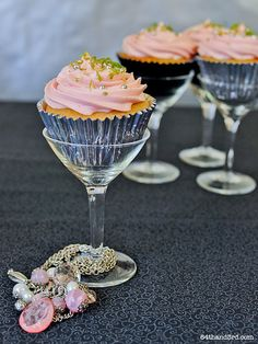 Creative Cupcake display, would be too cute for a bridal party luncheon