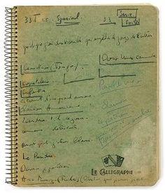 Jacques BREL. Notebook