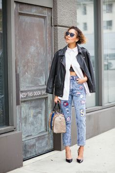 By Taye Hansberry - Stuff She Likes Outfit Tuesday.. Patched http://www.stuffshelikes.net