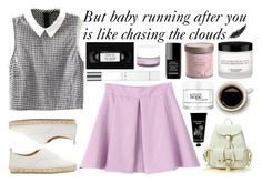 """""""Chasing The Clouds"""" by bubblybeauty135 ❤ liked on Polyvore featuring moda, Flamingos, Giorgio Armani, Korres, Chanel, philosophy, TokyoMilk, women's clothing, women y female"""