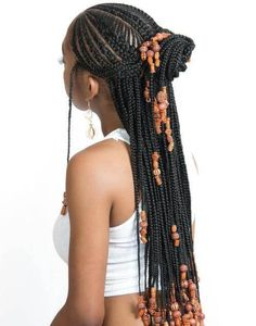 Cornrows with Artistic Beaded Twisted Bun # fulani Braids with beads 20 Amazing Fulani Braids for Women of All Ages Box Braids Hairstyles, Black Girl Braids, Braided Hairstyles For Black Women, African Hairstyles, Latest Hairstyles, Natural Braided Hairstyles, Stylish Hairstyles, Hairstyles 2016, Protective Hairstyles