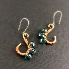Mehindi Inspired Peacock – Emerald $12.00 eleven77jewelry.com