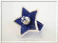 Anello a fiore con perla centrale - Ricamar Gioielli