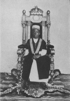 The Kabaka, child Daudi Chwa (King), Uganda.