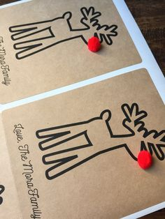 Etichette di vino di Natale Natale regalo tavolo di NMTMdesigns
