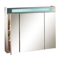 armoire de toilette fluo 3 portes 2 tubes fluo armoire. Black Bedroom Furniture Sets. Home Design Ideas