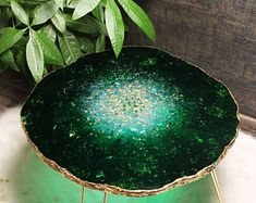 Original resin geode table   Etsy Epoxy Resin Table, Clear Epoxy Resin, Concrete Table, Wood Table, Green Coffee Tables, Walnut Coffee Table, Resin Furniture, Unique Furniture, Wedding Wall Decorations