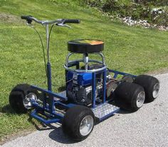 6 wheel Barstool Racer Gas Powered Scooters, Homemade Tractor, Toy Wagon, Go Kart Racing, Model Cars Building, Cool Bar Stools, Drift Trike, Minis, Power Cars
