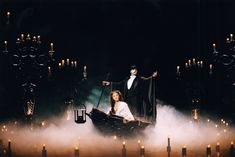 Andrew Lloyd Webber's The Phantom of the Opera, Sarah Brightman and Michael Crawford, her Majesty's Theatre, London, 1998,    Still my favorite Phantom and Christine. :D