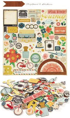 Adore the colors and quirky patterns on this Crate Paper sheet.