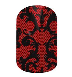 Love these! - Black and Red Fleur-De-Lis Lace Jamberry Nail Shields, Nail Wraps - Buy Jamberry Nails