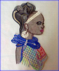 Johnny Clegg & Savuka - Asimbonanga (Mandela) Voici ma dernière réalisation, mélange de soie, coton (Calais et mouliné), rayonne, une petite merveille à travailler comme Michel savait si bien nous les dessiner. Merci à Dominique D. pour cette dentelle...