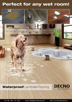 #Waterproof #laminate #flooring with the real wood feeling, water free characteristic.Large area installation over 400sqm without any moulding,will be your best choice.  sales@decnoflooring.com www.decnoflooring.com DECNO Group Ltd-- professional & reliable manufacturer of China.