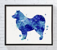 Finnish Lapphund Art Print Watercolor Finnish Lapphund