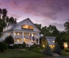 "Rabbit Hill Inn (Lower Waterford, VT). ""Romantic getaway (candlelit breakfast; canopy beds) at a restored residence and tavern, both about 200 years old. Doubles from $169, including breakfast and afternoon tea."""