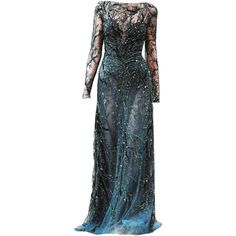 edited by elle-cxix(zuhair murad) ❤ liked on Polyvore featuring dresses, gowns, long dresses, vestidos, zuhair murad gowns, long blue dress, long blue evening dress and blue evening dresses