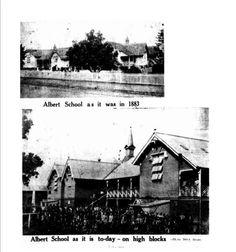 Albert State School pictured in 1883 and 1843