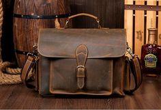 High Quality Genuine Leather Briefcase Men Messenger Shoulder Bag Men Handbags…