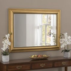 gold home accents Wandspiegel Elysian Rosalind Wheeler Ausfhrung: Gold, Gre: 107 cm H x 130 cm B Ely, Mirror Above Fireplace, Gold Framed Mirror, Mirrors Silver, Beaded Mirror, Overmantle Mirror, Living Room Mirrors, Mirrors Wayfair, Home Accents