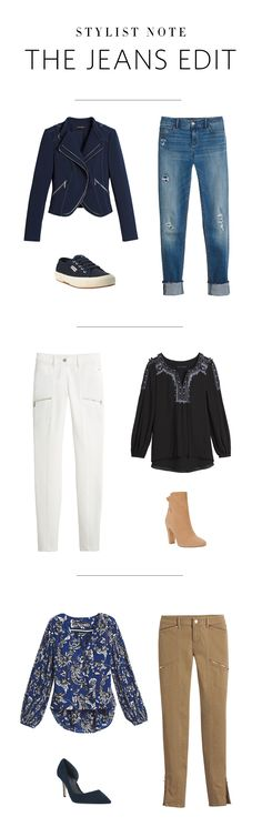 When it's time to getaway, start with good jeans and take it from there. Reach for destructed skimmer jeans with a moto jacket and unexpected kicks; skinny white jeans that go with the flow of a boho-inspired blouse and scrunch booties; and khaki skimmers that are surprisingly perfect with a pleated patterned blouse and d'Orsay pumps. Bon voyage.  Denim | White House Black Market