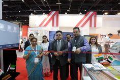 Inauguration of India Pavilion by Mr.  Rahul Srivastava, Consul (Commerce and Visa), Consulate General of India, Dubai, at Arab Health 2017 Fair, Dubai; Front Row (L to R)- Mrs. M Roja Rani, Regional Director, Hyderabad, Pharmexcil;  Mr.  Rahul Srivastava, Consul (Commerce and Visa), Consulate General of India, Dubai; Mr. Rakesh Suraj, Regional Director, (NR); EEPC INDIA  At the Back (L to R)- Ms. Shoumi Dasgupta,Manager, IBEF; Ms. Kamakshi Tayal, Senior Executive Officer,EEPC INDIA; Indian…