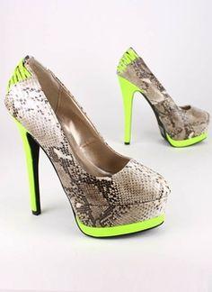 1ed53b85c96a Neon  amp  Snakeskin Trashy Tacky Loviiieee Dream Shoes