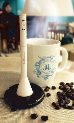 Re-Warming – Coffee Warming Stick by Hyewon Lee  Read more at http://www.yankodesign.com/2012/12/31/yanko-design-top-50-best-of-2012/#YkQWBbmXruyFXoca.99