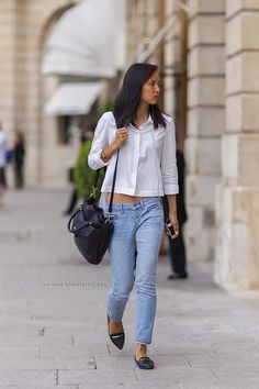 bd483739c9 63 Denim Street Style Looks to Inspire You Now via  WhoWhatWear Denim  Outfit