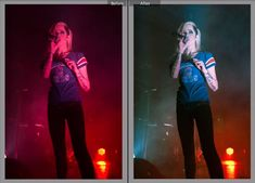 Quick Tutorial on Removing Red Fill Light from Concert Photos in Lightroom