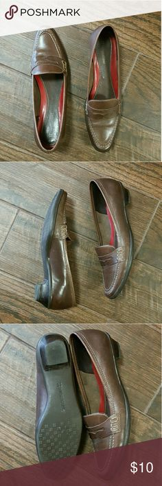 Naturalizer Brown leather loafer In excellent condition. Please see last picture for imperfection.  Imperfection is a very small tear Naturalizer Shoes Flats & Loafers