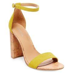 Women's Brooklyn Cork Block Heel Pumps - Yellow 8.5