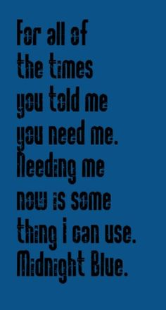 Melissa Manchester- Midnight Blue - song lyrics, songs, music lyrics, song quotes, music quotes