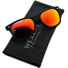 f85ca552ebc WearMe Pro Premium Polarized Wayfarer Style Glasses Matte Frame Mirrored  Lens Sunglasses  gt  gt