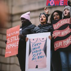 From the inspirational poster to the one with the tea, take a look at some of our favorite signs from the Women's March on Washington. Beatles, Women's Rights March, March Quotes, March Signs, Business Pictures, Human Rights Activists, Protest Signs, Hate Men, Inspirational Posters