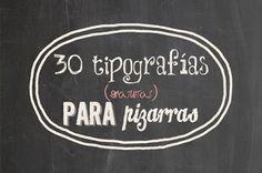 AYUDA PARA MAESTROS: 30 tipografías de pizarra para descargar gratis