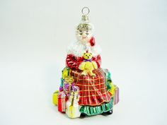Blown Glass Christmas Ornament Mrs. Claus By Spode by GranvilleGallery