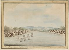 `Botany Bay. Sirius & Convoy going in : Supply & Agents Division in the Bay. 21 Janry 1788' William Bradley