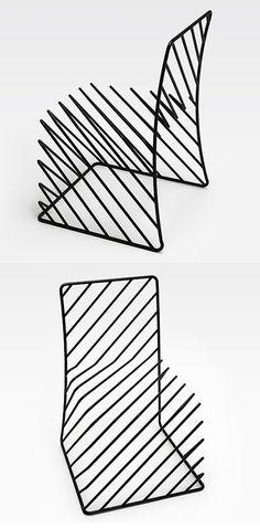 Chaise Squiggly par Nendo Voici le nouveau concept réalisé par le groupe de designers japonaisNendo. C'est fonctionnel, épuré et tout en beauté! Ces chais