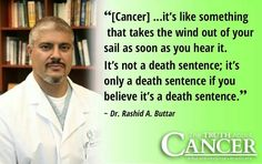We know better, don't we, friends? Cancer does NOT have to be a death sentence. Not when we treat it the right way.