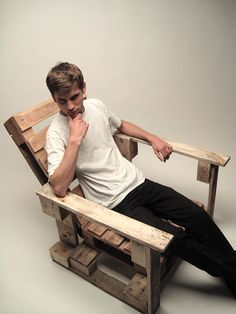 pallet chair / fotel z europalet