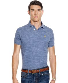Polo Ralph Lauren Custom-Fit Mesh Polo Shirt Polo Shirt Outfits, Polo T  Shirts 3b5244086dc