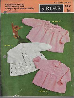 3e76c57c490b 262 Best Vintage Baby knitting patterns images