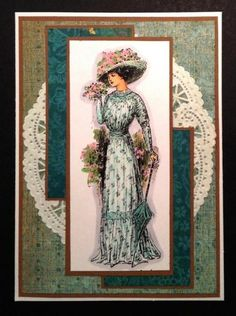 FS362 - Vintage Lady by BarbieP - Cards and Paper Crafts at Splitcoaststampers