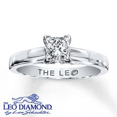 The Leo Diamond 3/4 ct Princess-cut 14K White Gold Ring