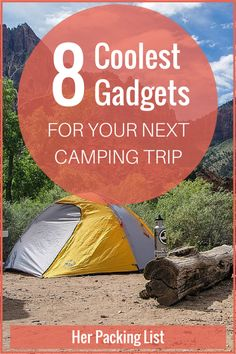 It's always good to pack light for a camping trip, but we've tracked down some of the coolest camping gadgets that will help you have a more enjoyable camping experience.