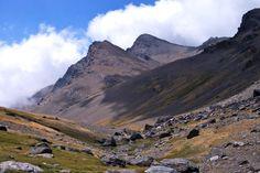 Walking through the upper rio Lanjaron; great mountain views; guided mountain walks in the Sierra Nevada Spain.