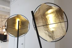 reflectors so that you can't see the light source New York Office, Lamp Light, Floor Lamp, Gold Lamps, Objects, Flooring, Lighting, Google Search, Image
