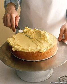 """See the """"Step 2: Spread Filling"""" in our How to Assemble a Layer Cake gallery"""