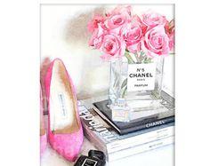 Chanel Decor:  Chanel Art Print Fashion by ChezLorraines on Etsy